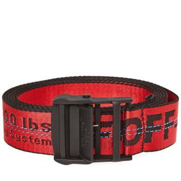Red Industrial Belt Off White Tie down Strap