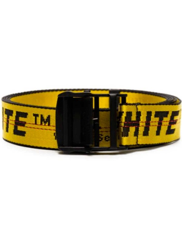 Off White Industrial Yellow Belt