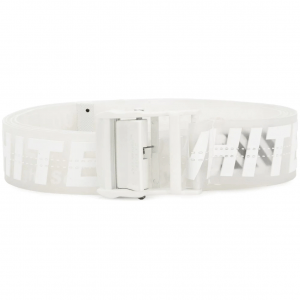 Off White Industrial White Rubber Belt