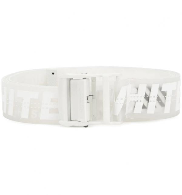 Off White Industrial White Rubber Belt