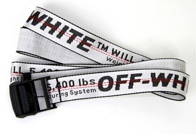 Off-White belt Industrial Yellow Virgil Tie Down Abloh Iron Nylon 200cm